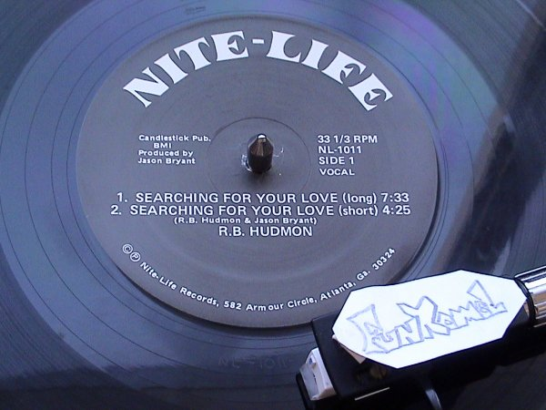 "R.B. HUDMON ""searching for your love"" 12"".. RARE MAXI ORIGINAL.......BOMBASSE!"