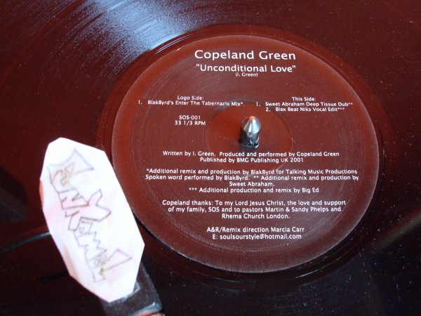 "COPELAND GREEN ""unconditional love"" 12"".........TERRIBLE!!!!!"